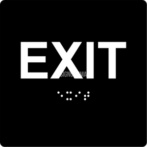 "ADA Compliant EXIT Sign,Acrylic Braille 6""x6""-ADA Sign-SignOptima"