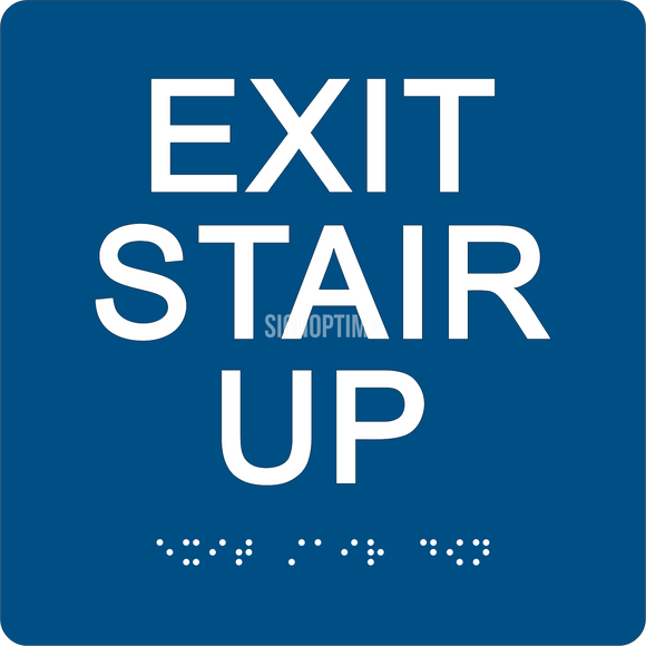 ADA Compliant EXIT STAIR UP Sign,Acrylic Braille 6