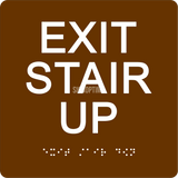 "ADA Compliant EXIT STAIR UP Sign,Acrylic Braille 6""x6""-ADA Sign-SignOptima"