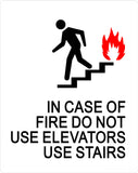 "ADA Compliant IN CASE OF FIRE USE STAIRS, Acrylic Sign 8""x10""-ADA Sign-SignOptima"