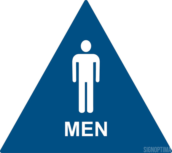 ADA Compliant Men's Geometric Triangle Restroom Door Sign-ADA Sign-SignOptima