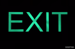 ADA Compliant Photoluminescence EXIT Sign with Braille , LaserGlow EXIT-ADA Sign-SignOptima
