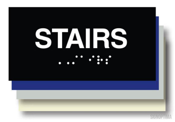 ADA Compliant STAIRS Sign,Acrylic Braille-ADA Sign-SignOptima