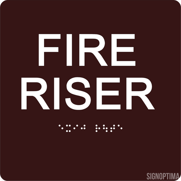 ADA Fire Riser Sign with Braille 6