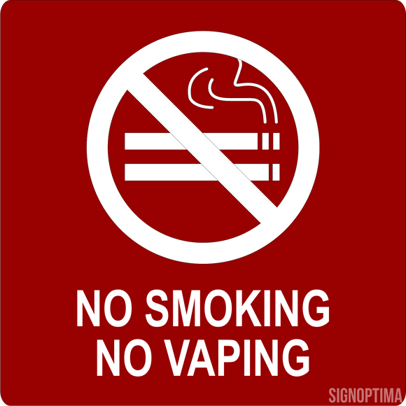 ADA No Smoking/Vaping Sign-ADA Sign-SignOptima