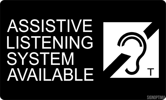 Assistive Listening Systems Available Sign , Acrylic 6