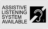 "Assistive Listening Systems Available Sign , Acrylic 6""x10""-ADA Sign-SignOptima"