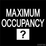 "Custom ""Maximum Occupancy"" Sign 9""x9""-Office Sign-SignOptima"