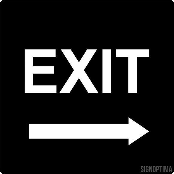 Directional EXIT Sign-ADA Sign-SignOptima