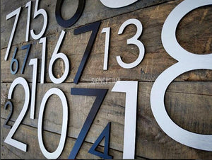 "LaserCut Numbers 0-9 Acrylic 12"" Height (Black)-Exterior Sign-SignOptima"