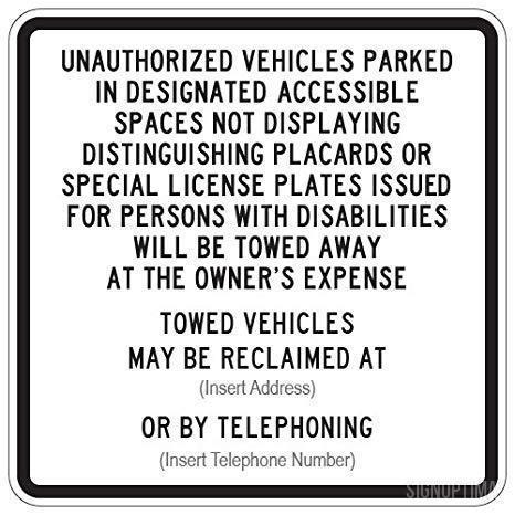 R100B California Accessible Parking Sign Entrance-Parking Sign-SignOptima