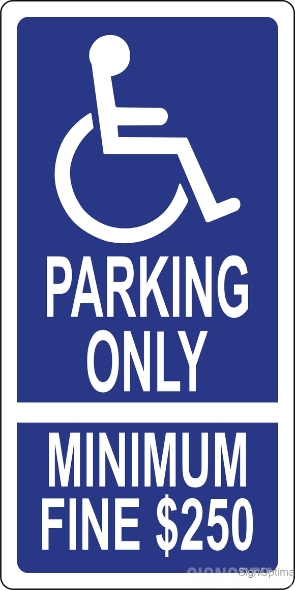 R99C California Handicap Parking Space Sign 12