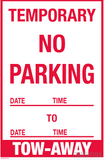 "Temporary No Parking Sign , 18""x12"" Cardboard Set of Two-Parking Sign-SignOptima"