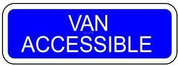 Van Accessible Regulatory Sign-Parking Sign-SignOptima
