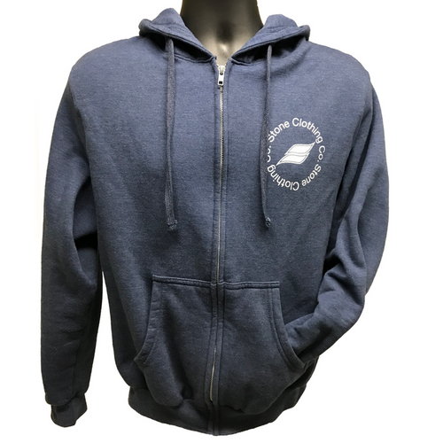 Qualifier Zip-up Hoodie (Heather Denim)