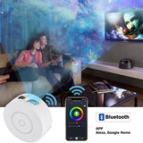 Nuled Galaxy Projector Starry Sky LED Lamp Star Night Light on Ceiling/Wall with APP, USB Plug Charging