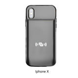 NUNET Nucharger Battery Case for iPhone X/Xs 6000 mAh Portable Power Bank Protective Charging Case Extended Battery Pack for Apple Cell Phone X/Xs, Black