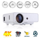 "Video Projector Portable, Nuprojector Full HD HDMI VGA LED Supports 1080p, Native 720p 45-200"" Projection Size w. Speaker, 3800 Lumens (2019 Version)"