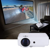 "Nuprojector Video Projector Portable Full HD HDMI VGA LED Supports 1080p, Native 720p 45-200"" Projection Size w. Speaker, 3800 Lumens (2020 Version) (Silver)"