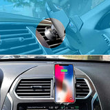Qi Certified Fast Wireless Car Charger Cellphone Holder Cradle w. Infrared Sensor Clamp Nucharger Auto Compatible w. iPhone 8/8 Plus/X/XR/XS, Samsung Note 9/8 etc.(Windshield&Air Vent Mount Kit Incl.)