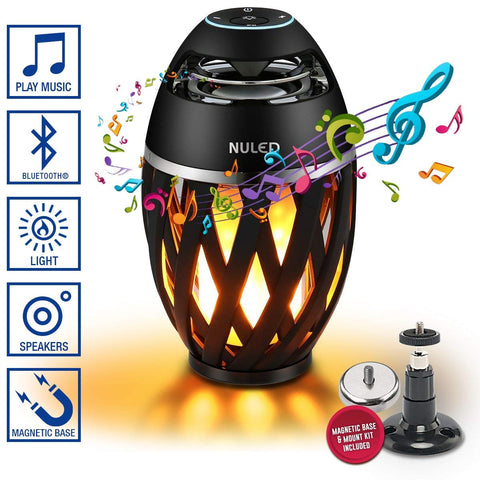 NULED Flame Atmosphere Bluetooth Speaker, Pair 2 Speakers for Surround Sound