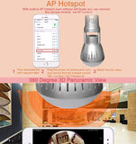 Nucam 380 LED Light Bulb APP Controlled Hidden Cam with 2K 360° View,