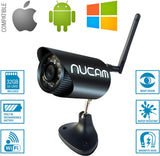 NuCam WR Water Resistant HD Wireless Camera with Night Vision, Magnetic Base & Built-in Battery