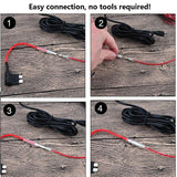 Mini USB Hardwire Kit with LP Mini/Mini/ATO/Micro2 Fuse 15ft Hard Wire kit 5V/2A Output for Car Motorcycle Charger Cable Kit for Dash Cam GPS NuCam AW (MiniUSB and Fuse Kit) Battery Drain Protection