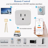 Wifi Smart Plug, App Controlled Wi-fi Switch, Alexa and Google Home Compatible (2 Units)