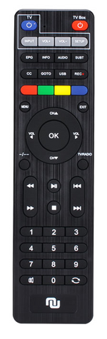 2019 upgraded NUNET TV Box Remote w. TV Remote Learning Buttons