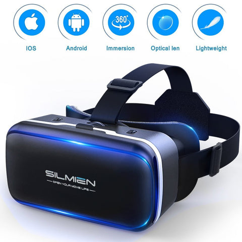SILMIEN 3D VR Glasses, Portable Virtual Reality Headset. - Nuvending.com