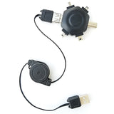6 in 1 USB Connectivity Adapter with Retractable 33 inch USB Cable - Nuvending.com
