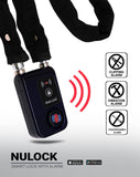 NuLock Bluetooth Cloth Covered Interlocking Chain Bike Lock 31 Inch (110dB Alarm with Cellphone Notification) - Nuvending.com