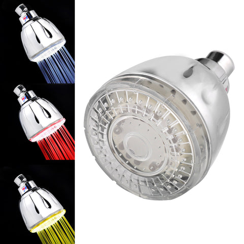 Nunet Magic LED Color Change Water Jet Hydro-powered Chrome Shower Head (No Batteries Required)