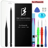 Replacement Battery for iPhone with Complete Repair Tool Kits, Glue Adhesive & Instructions, 0-Cycle Replacement Battery