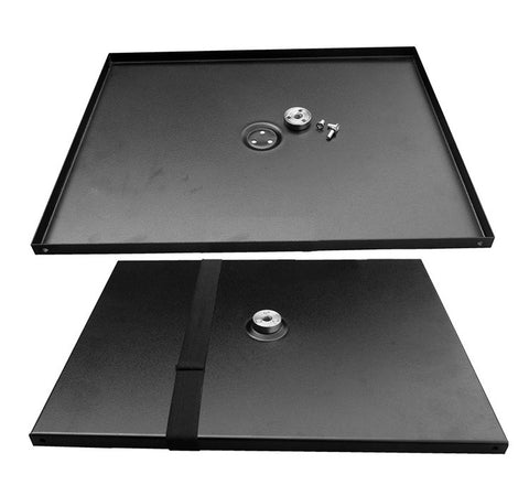 "Projector Tray Flat Panel Support with 3/8"" Hole and 1/4"" Adapter for Tripod"