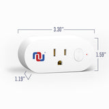 Wifi Smart Plug, App Controlled Wi-fi Switch, Mobile App Avail, Compatible with Alexa and Google Assistant - Nuvending.com
