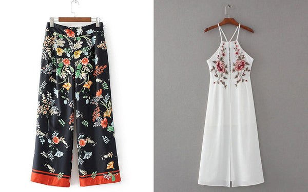 Floral summer clothing
