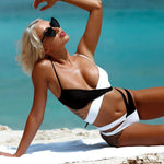 Wrap around Black and White Bikini Helda
