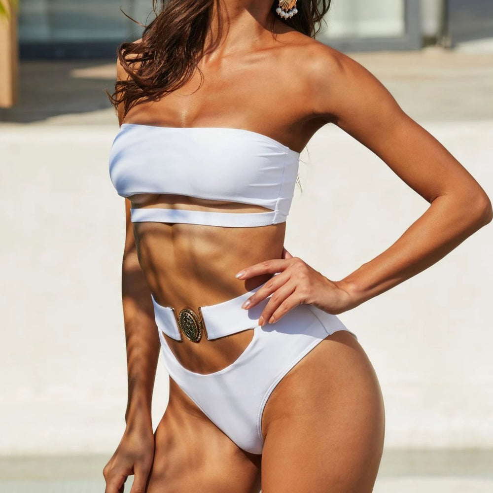 Belted Cut Out Bikini Amber