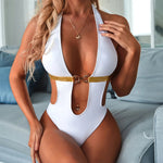 Deep V High Cut One Piece Goldie