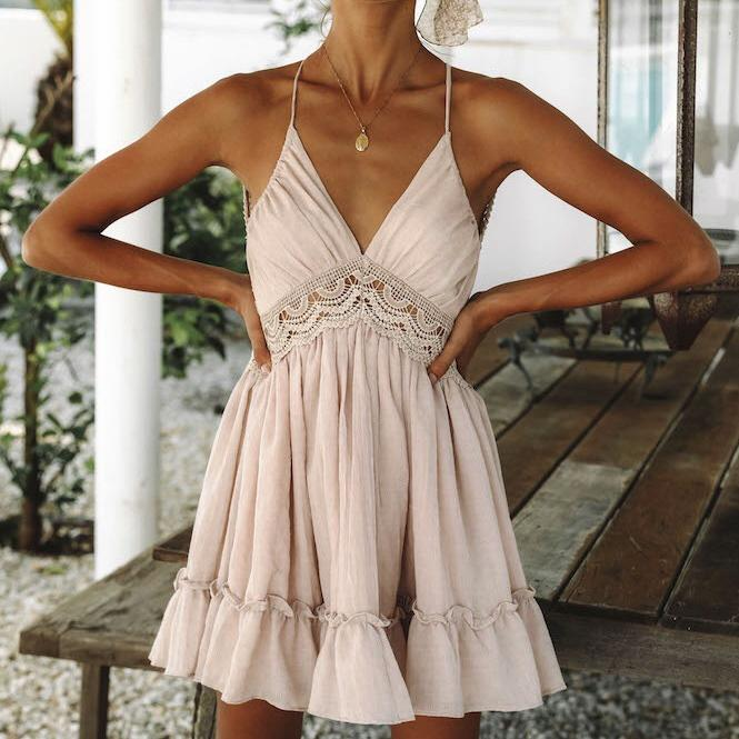 Maria ruffle Dress