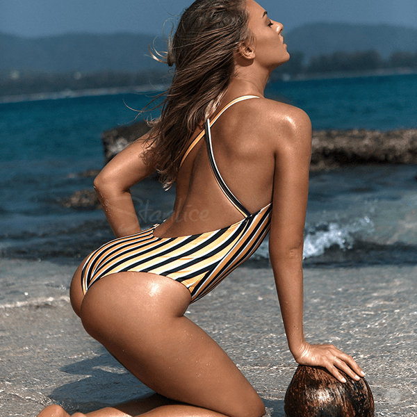 Mariel Stripes One Piece