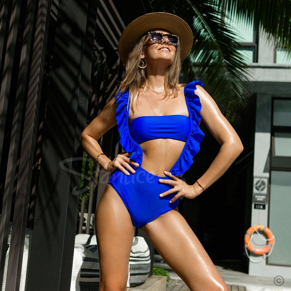 Ocean Ruffle One Piece