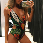 Floral Side Cut One Piece Joddie