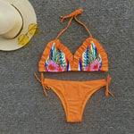 Ruffle Top Side Wrap Bottom Bikini Hawaii