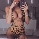 Cheetah Cut Out Wrap Around Swimsuit Chloe