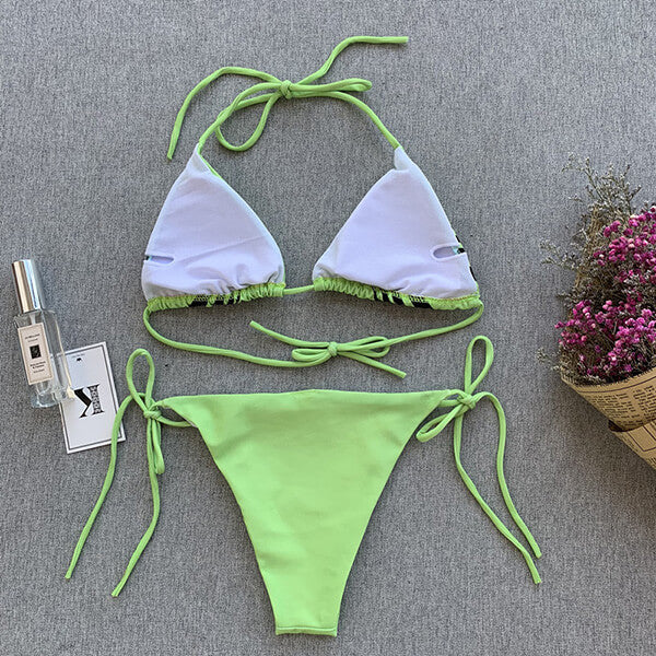 Adjustable Straps Padded Triangle Bikini Estelle