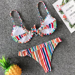 Sexy Ruffled Cleavage Wire Detail Bikini Lena