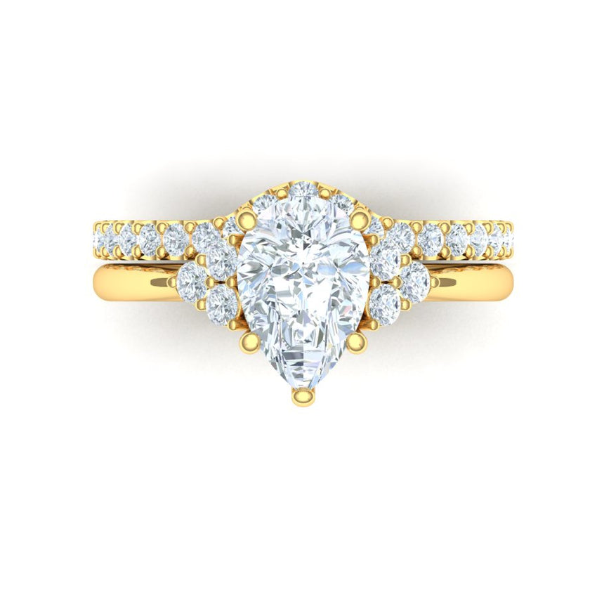 Bryan Tan Engagement Ring with 1.55 carat Lab-Grown center diamond